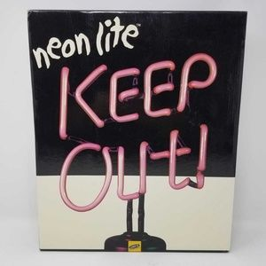 Lite F/X Keep Out Neon Red Light Stand NEW